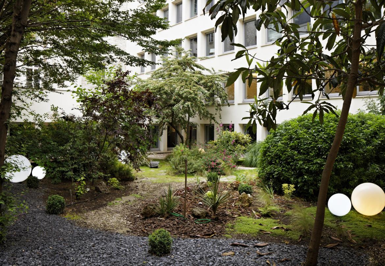Jardin privé salle de réunion Champs-Élysées George V